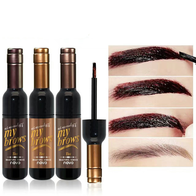 Peel-off Tattoo Eyebrow Gel Long-lasting Dye Tinted Brow Cream Waterproof Paint Makeup Eye Tint Cosmetics Black Brown Eyebrows 2