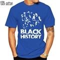 Винтажная черная футболка с изображением истории месяца MLK Обама рэп Футболка SZ L