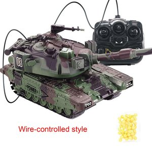 1:32 RC Battle Tank Crawler Tactical Vehicle Main Battle Military Remote Control Tank with Shoot Bullets Model Electronic Toys