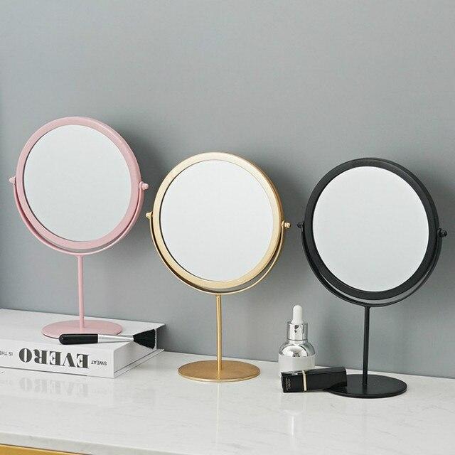 Metal Decorative Mirror Lady Desktop Makeup Mirror Crafts Dimensional Home Decor Accessories    WJ021710 2