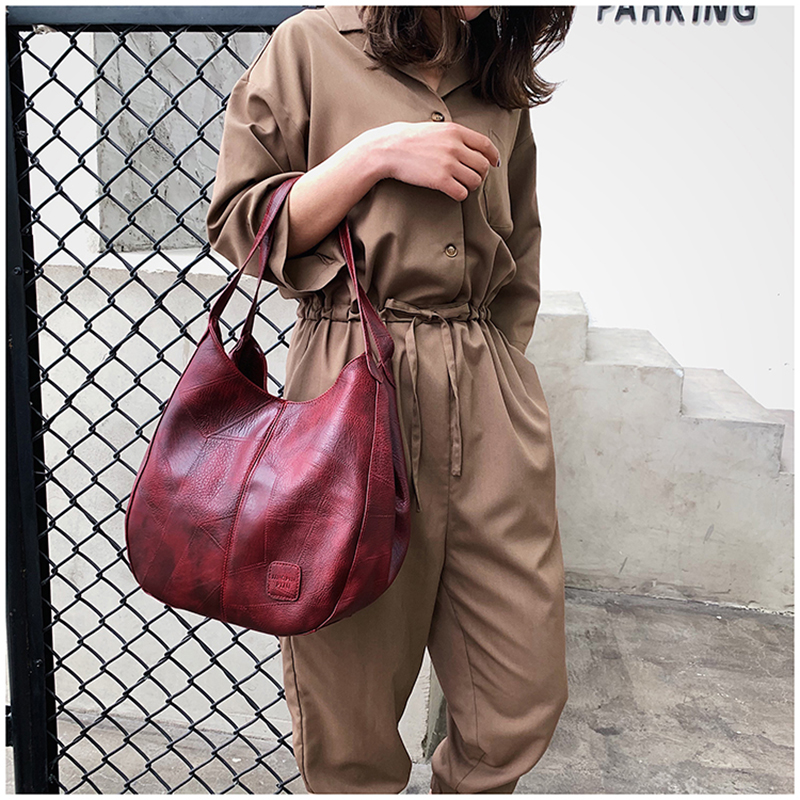 Image 4 - Vintage Women Hand Bag Designers Luxury Handbags Women Shoulder Bags Female Top handle Bags Fashion Brand leather HandbagsShoulder Bags   -