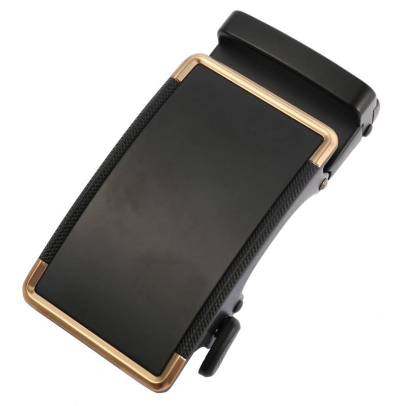Men's Belt Head Belt Buckle Leisure Belt Head Business Accessories Automatic Buckle Width Black 3.5CM Luxury Fashion LY136-22033
