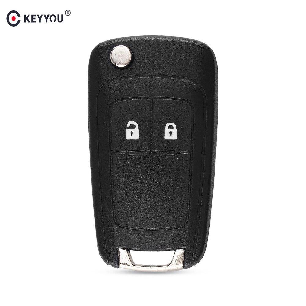KEYYOU étui à clé à distance pliable pour OPEL VAUXHALL Insignia Astra 2 bouton HU100 lame non coupée