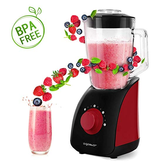 Aigostar Pomegranate 30JDF   Multi function Table Blender and Ice Crusher with 2 Speed  1.5L Glass Jar and 4 Blade of Stainless.|Blenders| |  - title=
