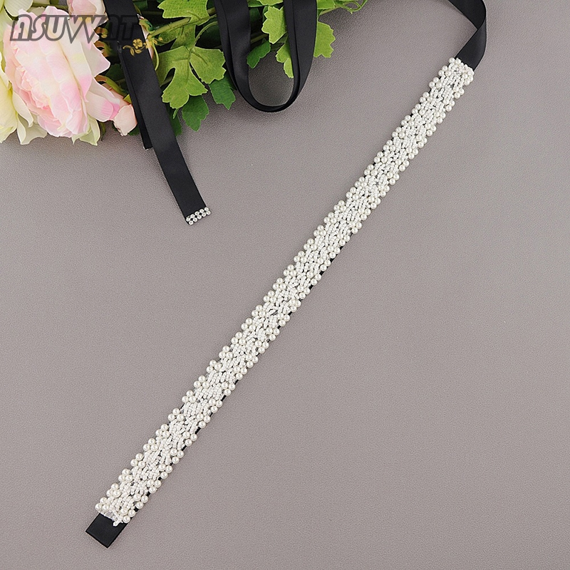Fashion Wedding Belt In Bridal Blets Pearl Sash Beaded Bride Dresses Accessories Pearl Belt  Women Belt For Party Girl