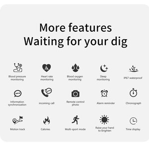 Image 2 - KARUNO inteligentny zegarek tętna Monitor ciśnienia krwi inteligentne zegarki dla Android iOS opaska monitorująca aktywność fizyczną mężczyźni kobiety poręczny inteligentny zegarek