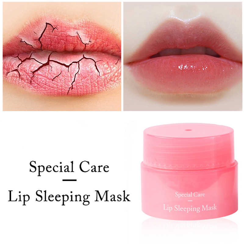 Korea Lip Slaapmasker Nacht Slaap Onderhoud Bevochtigd Lippenbalsem de Roze Lippen Bleken Crème Voeden Beschermen Lippen Care 3G