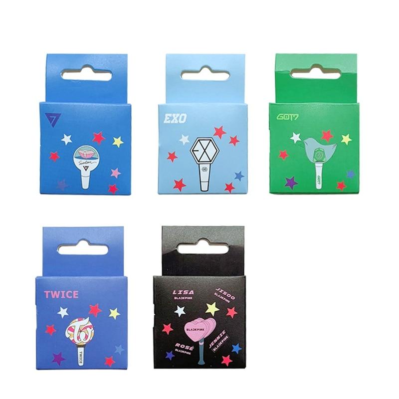 K-pop SEVENTEEN BLACKPINK Got7 Exo Twice Paper Masking Scrapbook Notebook Sticker Cute Washi Tape  5m