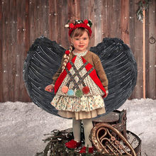 Children's White Feather Angel Wings for Dance Party Plume Wings Halloween Mardi Gras Cosplay Pretend Play Dress Up Costume Wing(China)