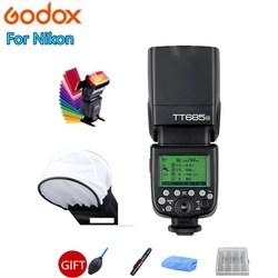 Godox TT685 TT685C TT685N TT685S TT685F TT685O lampa błyskowa Speedlite TTL HSS do Canon Nikon Sony Fuji Olympus lustrzanka cyfrowa w Lampy błyskowe od Elektronika użytkowa na