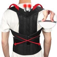 Correcteur de Posture ajustable, barre en acier pour le dos, thérapie des épaules, attelle lombaire, ceinture de soutien de la colonne vertébrale, Corset pour hommes et femmes