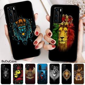 Мягкий резиновый чехол для телефона Nobby King of the forest Lion для Huawei P20 P30 P20Pro P20Lite P30Lite Psmart P10 9lite