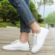 TAOFFEN Women Sneakers Shoes Casual Women Shoes Fashion Vulcanized Women Shoes Flat Shoes Beach Footwear Size