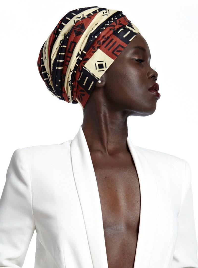 2019 Women Cotton Elastic Head Scarf Turban Hat Boho Print Turban Hijab Caps African Turbans For Female Arab Wrap Head Scarves