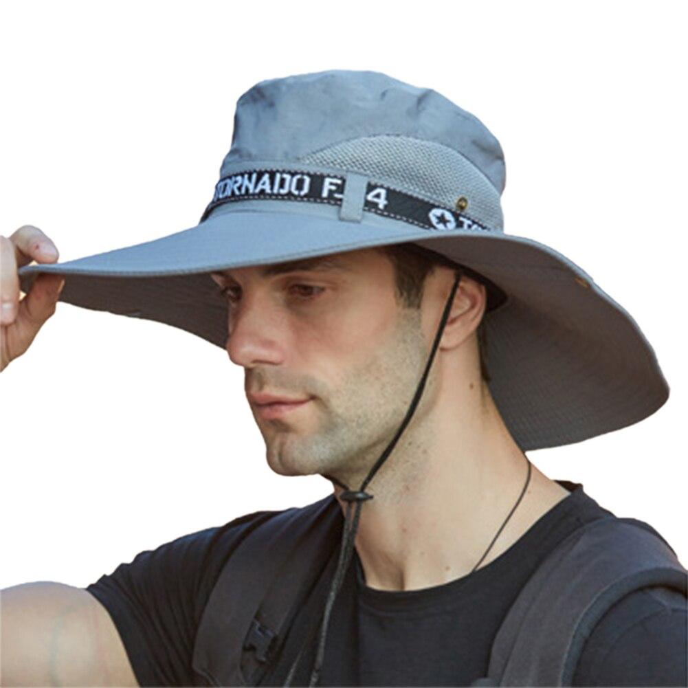Шляпа с широкими полями для рыбалки, летние и весенние мужские панамы, шляпа для пешего туризма, мужская шляпа от солнца, для путешествий, са...