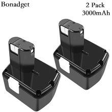 Bonadget recarregável para hitachi 14v 14.4v bateria 3000mah ni-mh eb1414s eb14b eb1412s 324367 eb14s ds14dl dv14dl ferramentas bateria