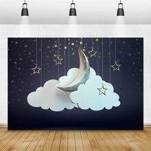 Laeacco Mây Trăng Sao Chụp Ảnh Nền Ảnh Phông Nền Cho Bé Photophone Sơ Sinh Trẻ Em Photozone Cho Studio Ảnh