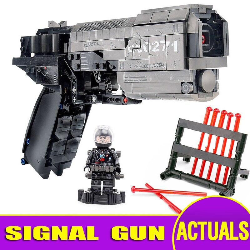 Yeshin 704301 военные строительные блоки Сигнальный Пистолет Игрушки модель сборки пистолет игрушки Набор Обучающие Дети Рождественские подарк