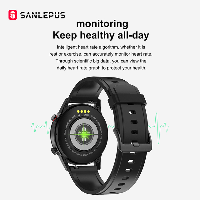 2020 SANLEPUS ECG montre intelligente Bluetooth 3