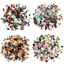 цена на 1 Bag 50g Colorful Mixed Irregular Shape Tumbled Stones Rock Gem Beads Chips Home Decor