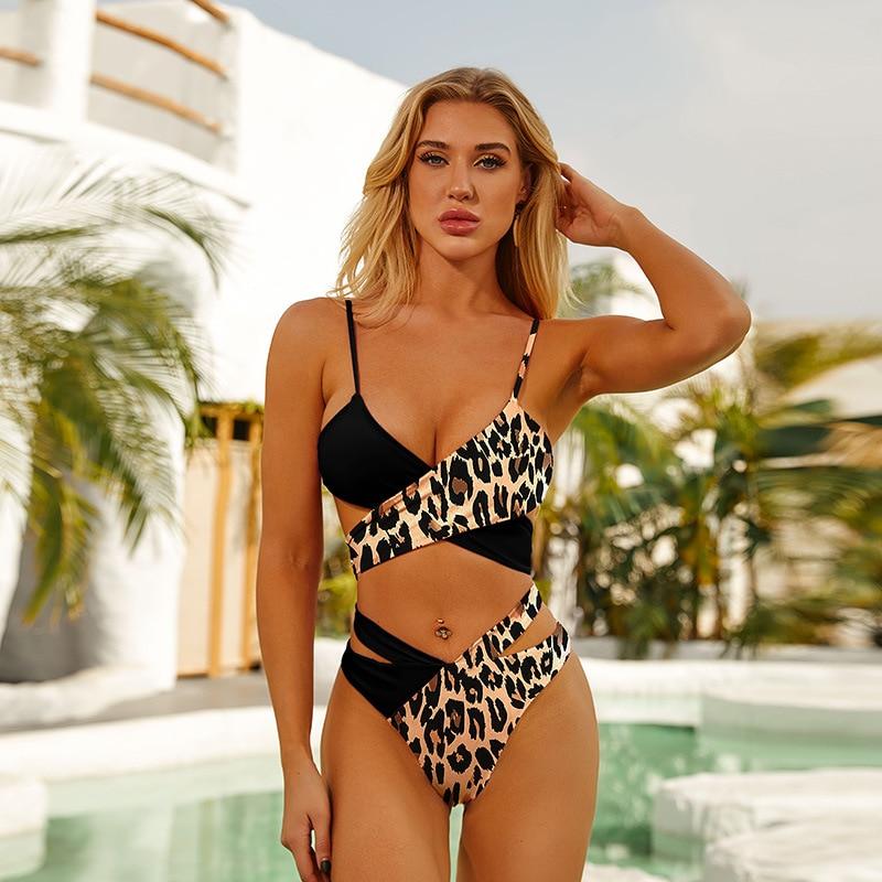 2020 Sexy High Waist Bikini Swimsuit Women Swimwear Female Push Up Biquini Brazilian Beach Wear Bikini Set Bathing Suit Bather