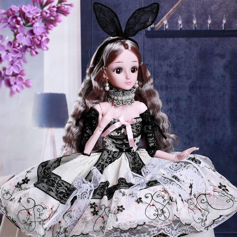 Негабаритных 60 см 1/3 Кукла Пупс с фантазийным рисунком туалетный вы Luoli кукольный комплект одежды принцессы 20 суставов Модная Кукла