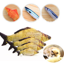 1 pc Fish Plush Pet Toys Dog  Artificial Cat Scratch Pillow Sleeping Cushion Toy Mint Catnip Resistance to bite 40cm