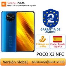 Versión Global POCO X3 NFC 6GB 64GB 128GB Smartphone Snapdragon 732G 64MP Quad Cámara 6,67