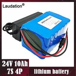 Laudation akumulator do rowerów elektrycznych 24V 10ah 25A BMS 250W 29.4V10000mAh bms 18650 akumulator do silnika zestaw krzeseł moc elektryczna