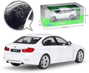Image 4 - WELLY 1:24 ölçekli Diecast simülatörü modeli araba BMW 335i/535i klasik araç Metal alaşım oyuncak araba erkek çocuklar için hediye koleksiyonu