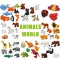 Große Tier Figuren Kompatibel große Größe Gebäude Block DIY Cartoon Tier Ziegel Pädagogisches Spielzeug Für Kinder Weihnachten Geschenke