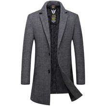 Mens Overcoat High Quality Wool Trench Coat Men Casual Men's Coat