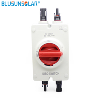 1 PCS Solar Electrical Isolator Switch 1000V DC Isolator Switch with 2 pairs MC4 Connectors for Solar Power System
