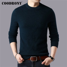 COODRONY Brand 100% Merino Wool Sweater Men Winter Thick Warm Sweaters Casual O-Neck Pull Homme Soft Cashmere Pullover Men 93045 coodrony brand sweater men 100