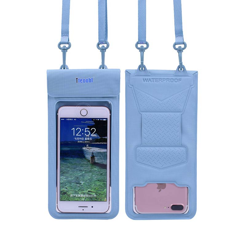 6.5 Inch PVC Floating Airbag Swimming Bag Waterproof Mobile Phone Pouch Cell Phone Case For Swim Diving Surfing Beach Use