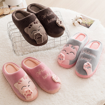 New Women Slippers Winter Warm Wome Plush House Indoor Outdoor Slides For Lovers Ladies Footwear Zapatillas Mujer