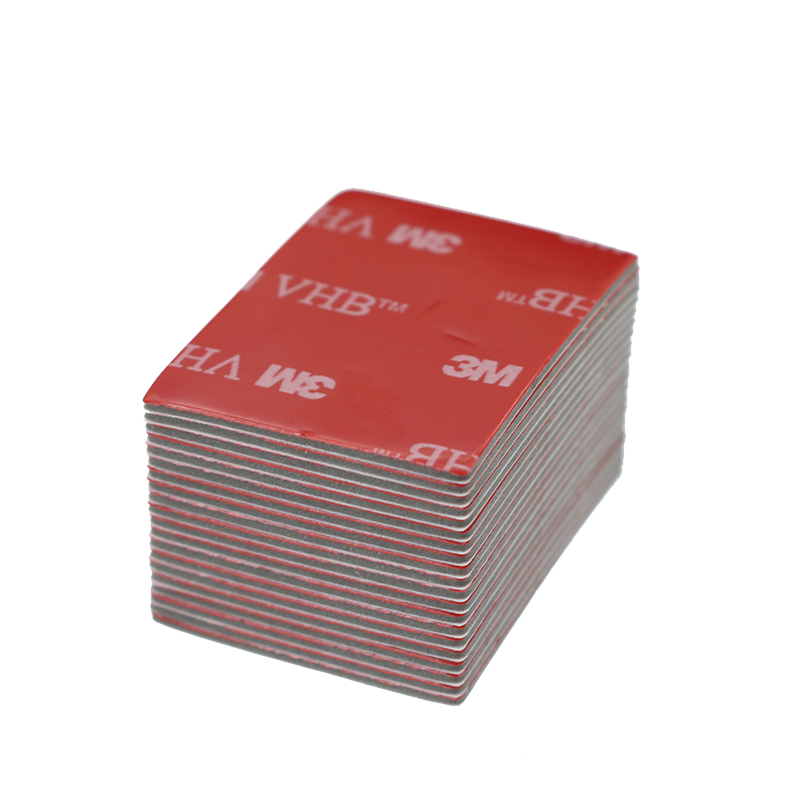 3M Black Tape Rubber Foam Adhesive Paste Stationery 20pcs Double-Sided 30*40mm Tape Strong Bottom Red Surface Office Gray