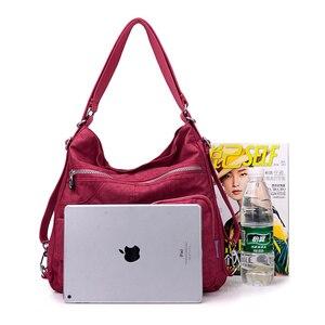Image 4 - Нейлоновый женский рюкзак, натуральная школьная сумка для подростков, повседневная женская сумка через плечо в стиле преппи, рюкзак для путешествий
