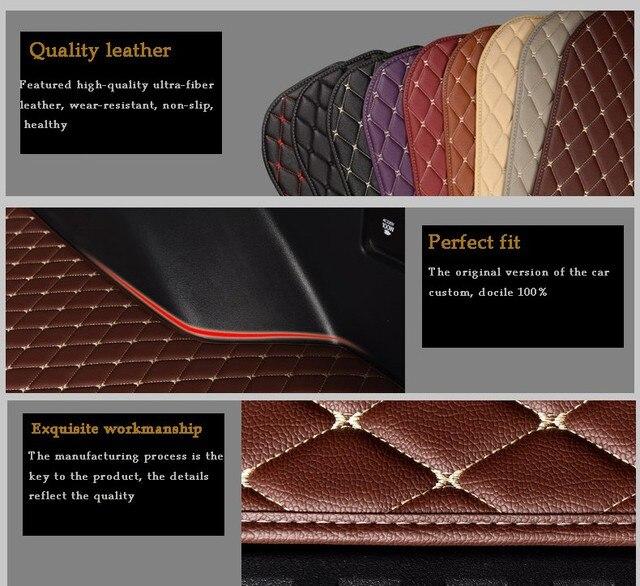 lsrtw2017 leather Trunk mat rug carpet for chery tiggo 8 2017 2018  2020 accessories interior cover sticker tiggo8