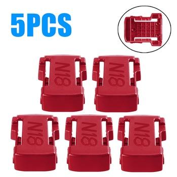5pcs/set 18V Battery Mounts Storage Holder Shelf Rack Slots 18V Battery Mount Bracket Slots For MILWAUKEE M18