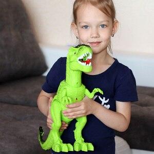 Image 3 - Jurassic parque grande dinossauro eletrônico brinquedos modelo para a criança brinquedo de som para o menino animal ovo ação jogar figura uma peça casa deco