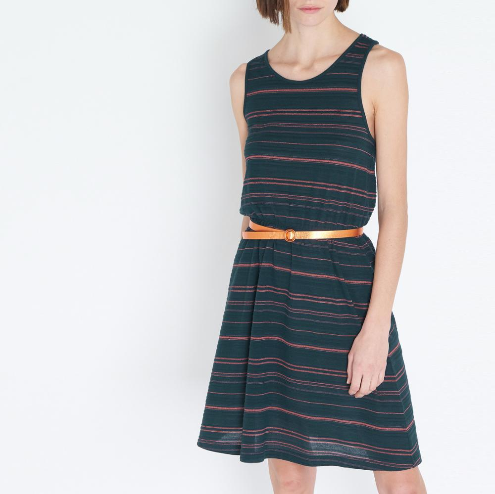 Woman Dress 2019 Spring Summer Blackish Green Cross Strap Dress-in Dresses from Women's Clothing    1
