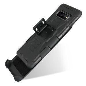 Ударопрочный жесткий чехол-кобура с подставкой для Samsung Galaxy S7/S5/S6/S7 Edge S8 S9 10, прочный ударопрочный чехол-кобура с ремнем