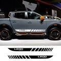 2 шт. автомобильные длинные боковые полосы наклейки для Mitsubishi L200 Triton авто Спорт DIY виниловая пленка Стайлинг наклейки автомобильные тюнинг а...