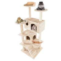 2 Colour Cat Climbing Toy Towers Frame Tree Entertainment Comfortable Stable House for Pe Pet Products BV789