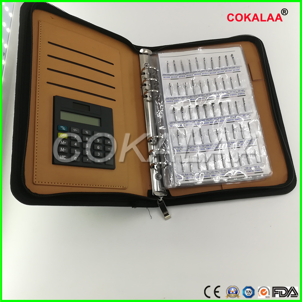 Dental diamond bur sample book 210 models/pcs diamond bur catalog dental material FG burs for teaching