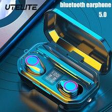 Utelite sem fio fones de ouvido 9d cancelamento ruído bluetooth5.0 esporte fone bluetooth 3300mah controle toque fones