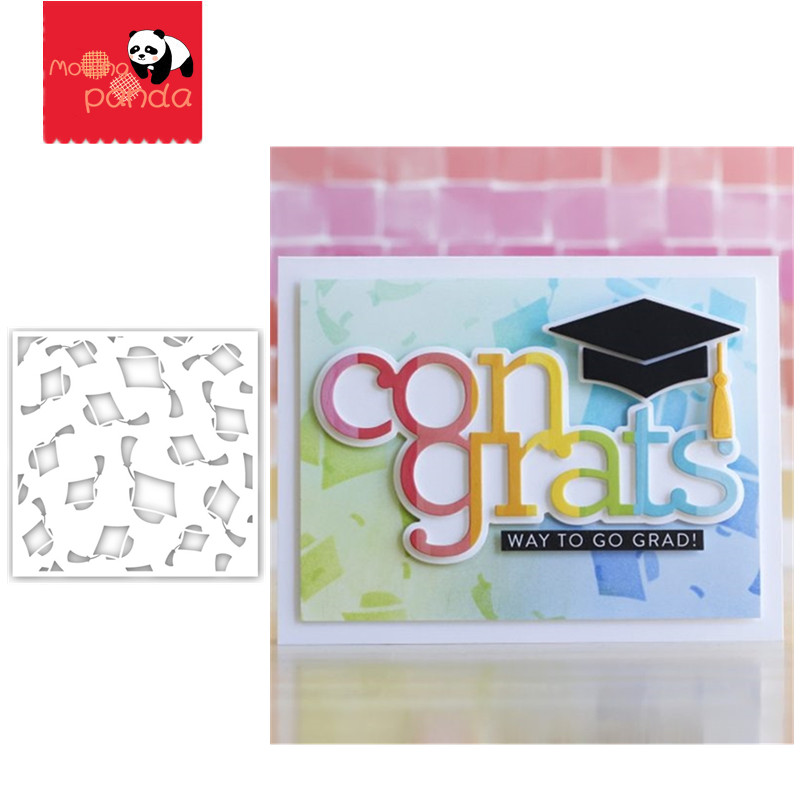 Graduation Stencil Stamp Stencil For Metal Cutting Dies And Stamps Painting Stencil Template Scrapbooking DIY Crafts Paper