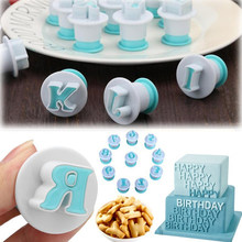 26pcs/Set Cake Decorating Tools DIY Alphabet Letters Cookie Cutter Fondant DIY Biscuit Mold Baking Accessories Stamp Impress