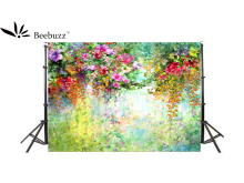 Beebuzz Photo Background  Colorful Morning Glory Oil Painting Style Backdrop